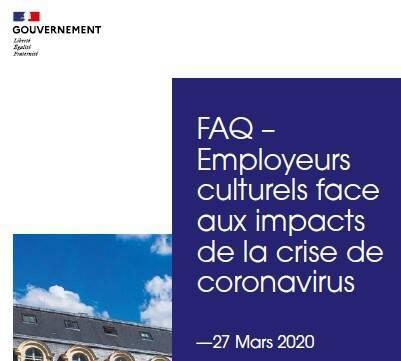 Employeurs culturels face aux impacts de la crise de coronavirus